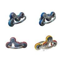 2.5cm Flip Fidget Brinquedos Cadeia de Bicicleta Spinner Chaveiro Corrente Dedo Spinners Autismo Stress Relevo Decompression Metal Keychain Engraçado Brinquedo HH41UUSD