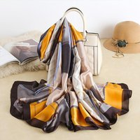 Scarves 2021 Design Brand Silk Summer Women Shawls And Wraps Print Hijabs Scarfs Foulard Femme Pashmina Beach Stoles Luxury