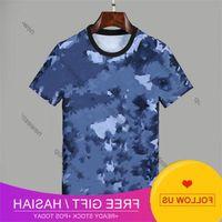 Summer 2020 New Designers Arrive t Shirts Mens Clothing Tshirt Blue Camo Letter Printing Casual T-shirt Women Luxury t Shirt Dress Tee Tops