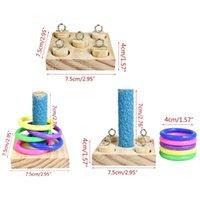 기타 조류 용품 2021 조류 앵무새 나무 플랫폼 애완 동물 교육 선물 플라스틱 반지 지능 훈련 씹는 퍼즐 장난감 블록