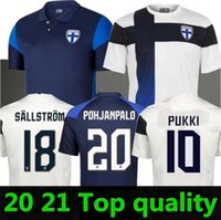 20 21 Finlnd Soccer Jersey Pukki Skrabb Raitala القدم الكرة قميص رجالي فنلندا الرئيسية قصيرة الأكمام