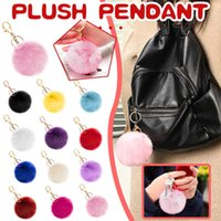 Multicolor Plush Fur Ball Pom Keychain Artificial Rabbit Tail Charm Mini 8 CM Key Ring Cloths Cell Phone Camera Car Jeans Bag Accessories