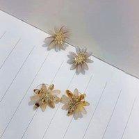 Korean Acetic Acid Resin Flower Stud Earrings For Women Fashion Jewelry Beach Holiday Pendientes Earings