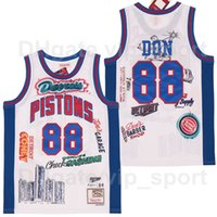 BR Remix Big Sean X 88 Don Basketball Jersey B/R Detroit Bleacher Report Limited Edition Breathable Stitched Sewn Sport White Team Color