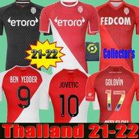 2021 2022 Como Monaco Jerseys de futebol Especial Volland Jovetic Maillots De Foot Collector 21 22 B.BadiaShile Ben Yedder Gelson Fabreags Golovin Men Kids Football Shirt