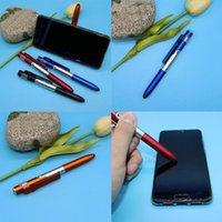 Ballpoint Pens 4-in-1 Folding Pen Screen Stylus Universal With Cellphone For Tablet LED Capacitive Mini B6Z2