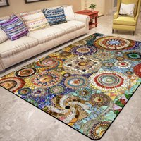 Carpets Retro Bohemian Style Home Area Rugs Persian Ethnic 3D Printed For Living Room Floor Mat Decor Kitchen Bedroom Carpet