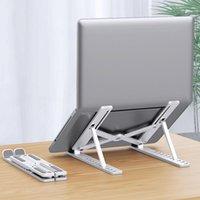 Hooks & Rails Portable Laptop Stand Foldable Notebook Holder Adjustable Computer Base Lapdesk Cooling Bracket Accessories