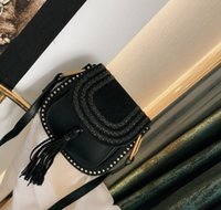 Klassische Vintage gewebte Satteltasche Frauen Handtaschen Quaste