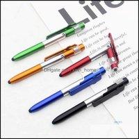 Ballpoint Writing Supplies Office School Business & Industrialballpoint Pens 36Pcs Mti-Function Mobile Phone Bracket Led Folding Light Pen C