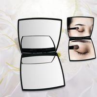 Moda Powiększanie Kompaktowe Kosmetyczne Lusterka Mini Ręka Pocket Beauty Makeup Tool Toalet Taletowe Przenośne składane Lady Facet 2-twarz Lustro Dla Kobiet Dziewczyn