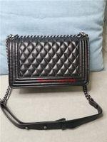 Мода дизайнер женские сумки Crossbody Messenger Bearge цепь сумки хорошие качественные кожаные кошельки дамы V-образные ромбическая сетка сумка с пылезащитной коробкой и картой