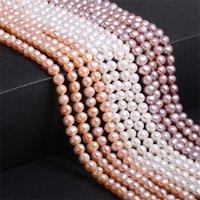 Natürliche Süßwasserperlenperlen Hohe Qualität Kartoffelförmige Punch Lose Perlen für Schmuck DIY Armband Halskette Zubehör 1381 Q2