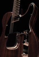 MasterBilt Paul Waller George Harrison Rosewoodテレエレクトリックギタービッグブリッジカバー、3サドルブリッジ、ビンテージチューナー、クロム硬質
