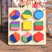 Bois Montessori Jouets Toys Éducatif Jouets Jouets Puzzle Puzzle Board Couleur Géométrie Shape Match Kids Bébé Jouet 15 * 15cm Petit 1965 Z2