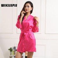 Ropa de dormir para mujer wikisspjs seda cómoda como pijamas color sólido sexy ropa de dormir bata de baño túnicas para mujer vestido de noche