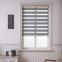 Stores Skell Valance Système transparent étanche Zebra double couche lumière ombrage de fenêtre de fenêtre pour salon chambre à coucher