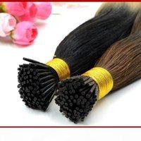 """Natural Hair Extensions Keratin I-Tip Hair Extensions 18"""" 20"""" 100% Indiian Prebonded Human Hair Extensions 100g pack"""
