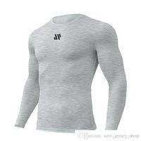 Özel kendi marka kas kardeşler sonbahar ve kış yeni egzersiz egzersiz hızlı kuruyan tayt koşu eğitim trend moda uzun kollu t-shirt erkek futbol je