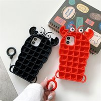Party Favor adult Pop toys Phone Cases For Iphone 12 11 Pro Max X XS XR 7 Plus 8 Relive Stress Fidget sensory Toy Silicone Cover 2919 Q2