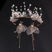 헤드 피스 신부 웨딩 드레스 수동 머리 장식, 크라운은 슈퍼 스위트 페어리 헤어 후프 정장 한국 실크 원사의 역할을 할 자격이 있습니다.