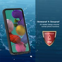 IP68 Waterproof Clear Phone Cover for Samsung A51 Outdoor Snowproof Shockproof Dropproof Hybrid Armor Rugged Transparent Full Protective Lanyard Strap Case