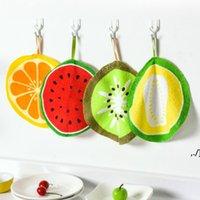 Bulaşık bezleri silerek peçete güzel meyve baskı asılı mutfak el havlusu mikrofiber havlular hızlı kuru temizleme RAG DWB7319
