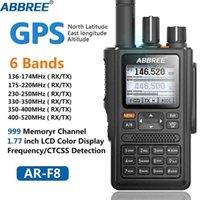 ABBREE AR-F8 GPS Walkie Talkie High Power 136-520MHz High City CTCSS DNS Detektion Riesige LED-Anzeige 10km langer Bereich 210817