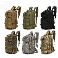 Mochila de camuflaje militar al aire libre caliente Nylon 30L impermeable mochila táctica deportes Camping Senderismo Pesca y bolsa de caza