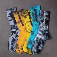 4 Париж / Лот Мужские Галстурки Носки хлопчатобумажные буквы Высокая Трубка Yee 500 Влагающую влагу Спортивные баскетбол