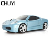 Wireless Car Mouse USB Optical Computer Mice 3D Mini 1600DPI Gold Gaming PC Laptop Mause Gamer For Kid's Gift