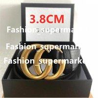 2021 Mode Gürtel Schnalle Leder Bandbreite 3,8 cm 6 Farbe Hohe Qualität Box Designer Männer Frauen 5AAAAA