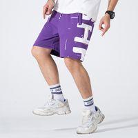 Harajuku Style Five-Point Pantalon Mens Trendy Personnalité Personnalité Lettre Hop-Hop Imprimer Imprimer Sauvage Casual Casual Summer