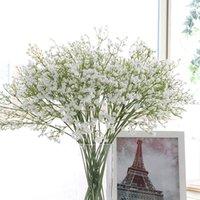 Derma Yapay Gypsophila Yumuşak Silikon Gerçek Dokunmatik Çiçekler Yapay Gypsophila Düğün Ev Partisi Festival Dekorasyon Için