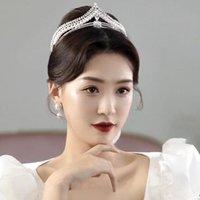 Hair Clips & Barrettes 2021 Retro Crystal Pearl Bridal Tiaras Crown Geometric Rhinestone Pageant Diadem Bride Headband Wedding Party Accesso