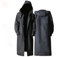 Impermeable hombres mujeres impermeables con capucha adulto eva abrigo poncho nueva moda negra para niño niña viajes pesca escalada ciclismo 1820 v2