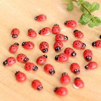 Peri Bahçe Dekorasyon Böcek Kendinden Yapışkanlı Ladybugs Minyatür Bitki Tencere Bonsai Zanaat Hayvanlar Mikro Peyzaj DIY Dekor Mini Ladybug ZWL740