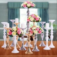 Candle Holders Metal Candlestick Flower Vase Table Centerpiece Event Rack Road Lead Wedding Decor