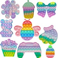 Fidget Stress Toys Push Bubble Fidget Sensory Toy Autism Special Needs Stress Reliever Children Funny Gift Fidget Its macaron 2021 New