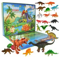 Children's dinosaur toy model set simulation zoo Tyrannosaurus Rex egg boy Triceratops
