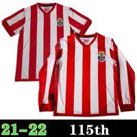 20 21 115º aniversário Chivas camisas de futebol manga longa 2021 liga mx guadalajara casa longe brizuela 115 ano camisa de futebol homens mulheres kit kit uniformes