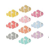 الأسماك عضاضة السيليكون التسنين لعب للأطفال شكل مضغ الخرز مصاصة قلادة قلادة المهذري التمريض التمريض الملحقات DHF6381