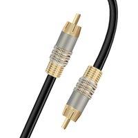 동축 케이블 SPDIF 오디오 DVD 신호 출력 RCA 2M / 6.56FT 커넥터