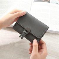 Wallets Ladies Women Large Capacity Wallet Sweet Solid Hasp Purses PU Handbag Portefeuille Femme 6 Colors 2021