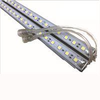50PCS IP68 Waterproof LED Bar DC 12V 24V 50cm 100CM 36LED 5050 SMD Hard Rigid Strip Cabinet Bar Light Use of Underwater