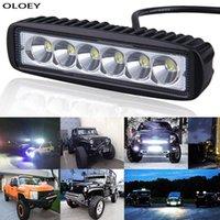 Araba LED Çalışma Işık Bar Spot Sel Çalışma 12 V 18 W Parlak Beyaz Aydınlatma Için Kamyon Traktör Offroad Araç 4PC / 2PC / 1 P