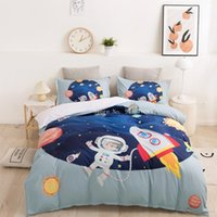 Bedding Sets Kids Set Cartoon Astronaut Space Pattern Duvet Cover For Gifts Comforter Bedclothes Queen King Size Bed Linen