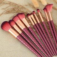 Makeup Brushes 10PCS Brush Set Premium Synthetic Hair Foundation Powder Eyeliner Eyelash Lip Make Up Cosmetic Beauty Tool