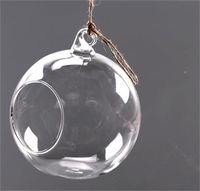 3asize زجاج واضح المزهريات الكرة زهرة شنقا زهرية شفافة الغراس تررم حاوية زجاج ديكور المنزل 600 S2