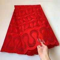 Voile suisse en Suisse Tissu Tissu African Dentelle Tissu en coton en coton avec pierres Tissu de dentelle sec africaine! LGM40803